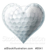 Vector Illustration of a 3d Heart Shaped Golf Ball by AtStockIllustration
