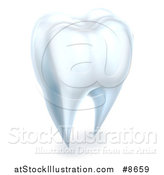 Vector Illustration of a 3d Human Tooth by AtStockIllustration