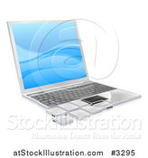 Vector Illustration of a 3d Laptop with Tile Pieces by AtStockIllustration