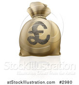 Vector Illustration of a 3d Lira Pound Sterling Money Sack by AtStockIllustration