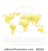 Vector Illustration of a 3d Melted Gold Atlas by AtStockIllustration