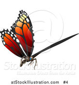 Vector Illustration of a 3D Monarch Butterfly Flying by AtStockIllustration