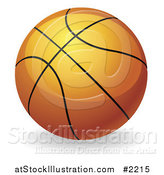 Vector Illustration of a 3d Orange Basketball by AtStockIllustration