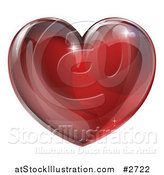 Vector Illustration of a 3d Red Glass Heart by AtStockIllustration