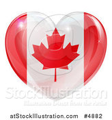 Vector Illustration of a 3d Reflective Canadian Flag Heart by AtStockIllustration