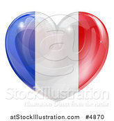 Vector Illustration of a 3d Reflective French Flag Heart by AtStockIllustration