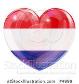 Vector Illustration of a 3d Reflective Netherlands Flag Heart by AtStockIllustration