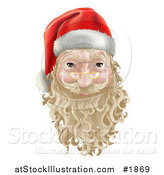 Vector Illustration of a 3d Santa Face Witha Blond Beard and Mustache by AtStockIllustration