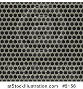 Vector Illustration of a 3d Seamless Metal Grill Pattern by AtStockIllustration