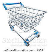 Vector Illustration of a 3d Shopping Cart by AtStockIllustration