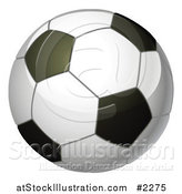 Vector Illustration of a 3d Soccer Ball by AtStockIllustration