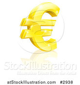 Vector Illustration of a 3d Sparkling Gold Euro Currency Symbol by AtStockIllustration