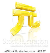 Vector Illustration of a 3d Sparkly Golden Chinese Yuan Renminbi Currency Symbol by AtStockIllustration