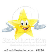 Vector Illustration of a 3d Star Mascot by AtStockIllustration