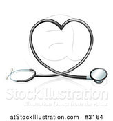 Vector Illustration of a 3d Stethoscope Forming a Heart by AtStockIllustration