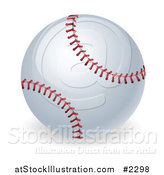 Vector Illustration of a 3d Stitched Baseball by AtStockIllustration