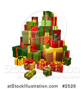 Vector Illustration of a 3d Tower of Gifts by AtStockIllustration