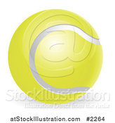 Vector Illustration of a 3d Traditional Tennis Ball by AtStockIllustration