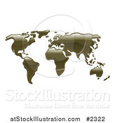 Vector Illustration of a 3d World Atlas Map of Oil by AtStockIllustration