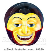 Vector Illustration of a 3d Yellow Smiley Emoji Emoticon Face by AtStockIllustration