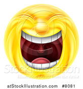Vector Illustration of a 3d Yellow Smiley Emoji Emoticon Face Laughing Hysterically by AtStockIllustration