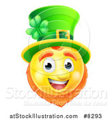 Vector Illustration of a 3d Yellow St Patricks Day Leprechaun Smiley Emoji Emoticon Face by AtStockIllustration