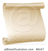 Vector Illustration of a Aged Scroll Banner by AtStockIllustration