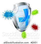 Vector Illustration of a Antibacterial Shield by AtStockIllustration