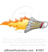 Vector Illustration of a Badminton Shuttlecock on Fire by AtStockIllustration