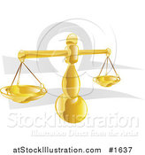 Vector Illustration of a Balanced Libra Scale with the Zodiac Symbol by AtStockIllustration