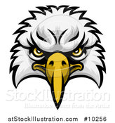 Vector Illustration of a Bald Eagle Mascot Face by AtStockIllustration