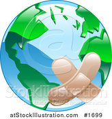 Vector Illustration of a Bandaged Planet Earth by AtStockIllustration