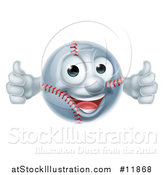 Vector Illustration of a Baseball Mascot Giving Two Thumbs up by AtStockIllustration