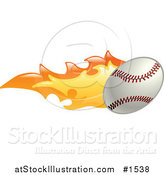 Vector Illustration of a Baseball on Fire by AtStockIllustration