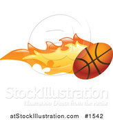 Vector Illustration of a Basketball on Fire by AtStockIllustration