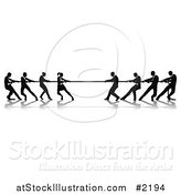 Vector Illustration of a Battle of Tug of War by AtStockIllustration