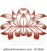 Vector Illustration of a Beautiful Brown Water Lily Lotus Flower by AtStockIllustration