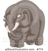 Vector Illustration of a Big Elephant by AtStockIllustration