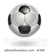 Vector Illustration of a Black and White Association Football Soccer Ball by AtStockIllustration