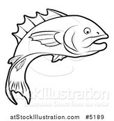 Vector Illustration of a Black and White Fish in Profile by AtStockIllustration
