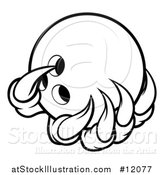 Vector Illustration of a Black and White Monster or Eagle Claws Holding a Bowling Ball by AtStockIllustration