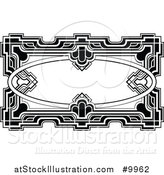 Vector Illustration of a Black and White Ornate Vintage Art Deco Frame by AtStockIllustration