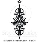Vector Illustration of a Black and White Tribal Tattoo by AtStockIllustration