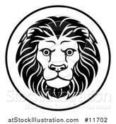 Vector Illustration of a Black and White Zodiac Horoscope Astrology Leo Lion Circle Design by AtStockIllustration