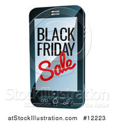 Vector Illustration of a Black Friday Sale Advertisement on a Smart Phone Screen by AtStockIllustration