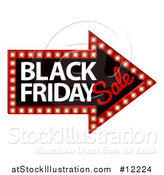 Vector Illustration of a Black Friday Sale Arrow Marquee Sign by AtStockIllustration