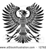 Vector Illustration of a Black Imperial Coat of Arms Eagle by AtStockIllustration