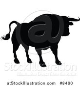 Vector Illustration of a Black Silhouetted Bull by AtStockIllustration