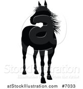 Vector Illustration of a Black Silhouetted Horse by AtStockIllustration