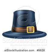 Vector Illustration of a Black Thanksgiving Pilgrim Hat with a Belt by AtStockIllustration